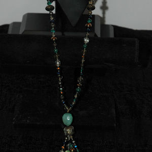 90s Vintage Chico's tassel necklace